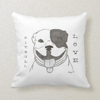 Pitbull Love Pillow - Pitbull Love Grey