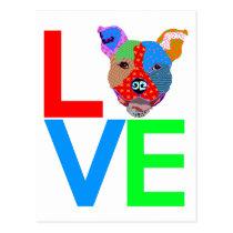 Pitbull Love Postcard