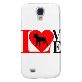 PITBULL LOVE RED AND BLACK SAMSUNG GALAXY S4 CASE