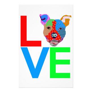 Pitbull Love Stationery