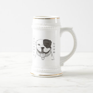 Pitbull Love Stein Coffee Mug