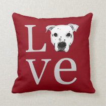 Pitbull Love Throw Pillow