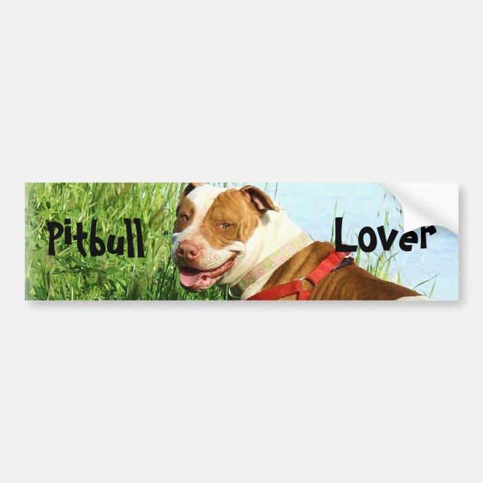 Pitbull lover bumper sticker