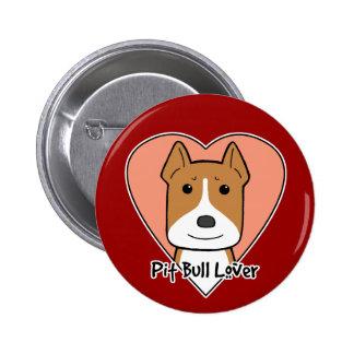 Pitbull Lover Button