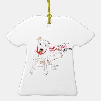 pitbull lovers not fighters ornament