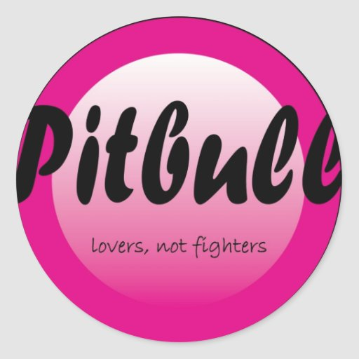 pitbull lovers stickers