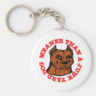 Pitbull Meaner Junkyard Dog Basic Round Button Keychain