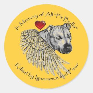 Pitbull Memorial Stickers