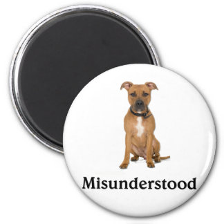 Pitbull - Misunderstood 2 Inch Round Magnet