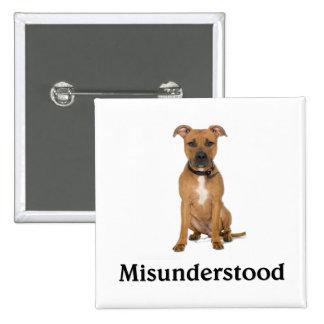 Pitbull - Misunderstood Pinback Buttons