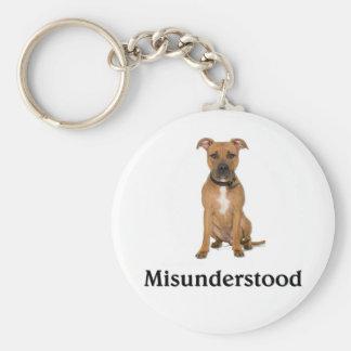 Pitbull - Misunderstood Basic Round Button Keychain