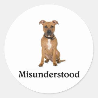Pitbull - Misunderstood Classic Round Sticker