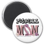 Pitbull MOM 2 Inch Round Magnet