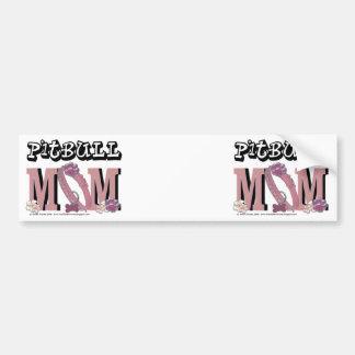 Pitbull MOM Bumper Sticker