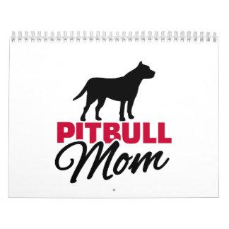 Pitbull Mom Wall Calendar