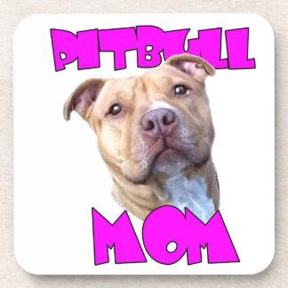 Pitbull Mom Dog Beverage Coaster