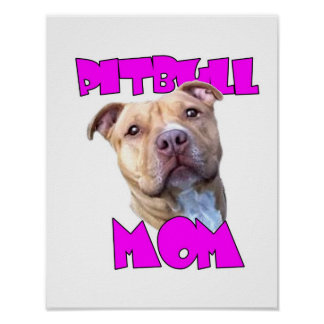 Pitbull Mom Dog Poster