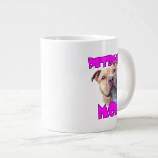 Pitbull Mom Dog 20 Oz Large Ceramic Coffee Mug