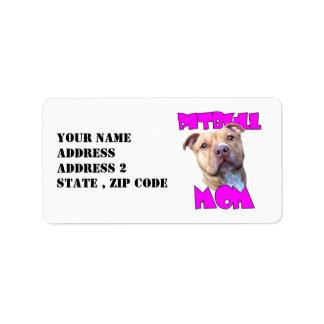 Pitbull Mom Label
