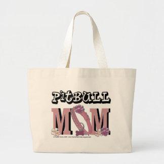 Pitbull MOM Large Tote Bag