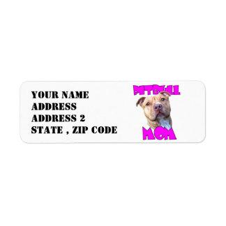 Pitbull Mom Return Address Labels