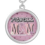 Pitbull MOM Round Pendant Necklace