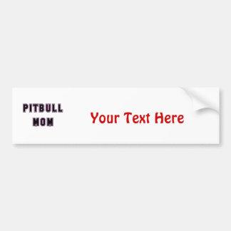 Pitbull Mom Text - Pink Bumper Sticker
