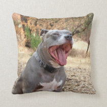 Pitbull Morning Yawn Pillow