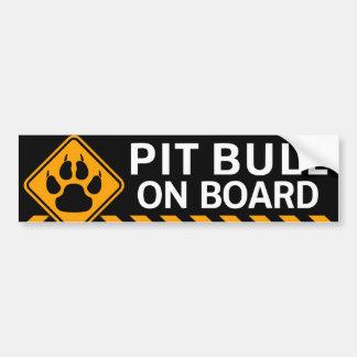 Pitbull On Board Bumper Sticker