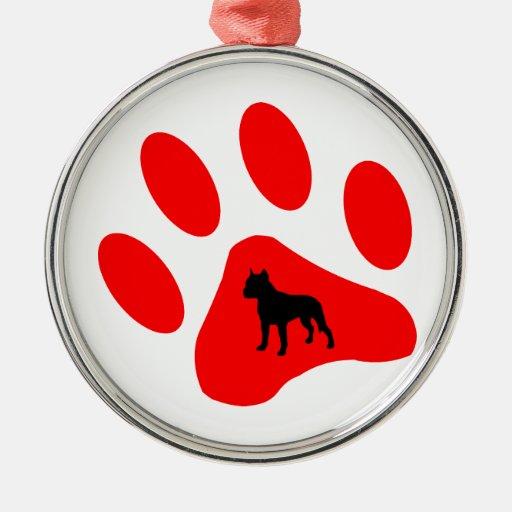 PITBULL ORNAMENT DOG PAW