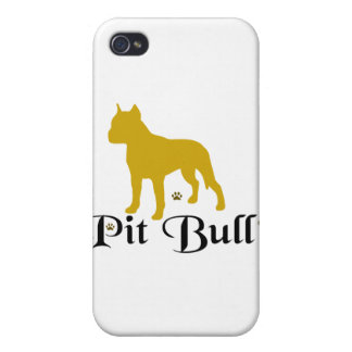 PITBULL PAWS COVER FOR iPhone 4