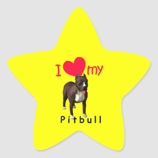 Pitbull Colcomanias Forma De Estrella