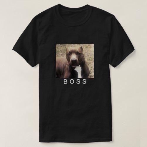 Pitbull Pet Photo Customized Mens T_Shirt