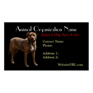 Pitbull Photo Dog Rescue Business Card
