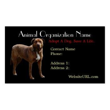 Pitbull Photo Dog Rescue Business Card
