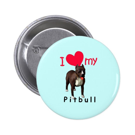 Pitbull Pinback Button