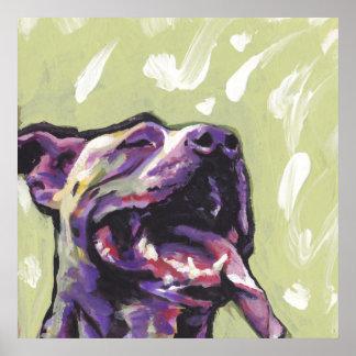 PitBull Pit Bull Dog Pop Art Poster Print