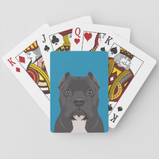 Pitbull Playing Cards