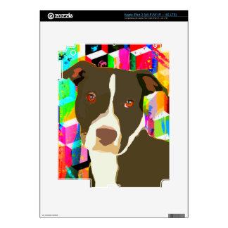 Pitbull Portrait Pop Art Decal For iPad 3