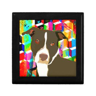 Pitbull Portrait Pop Art Jewelry Box