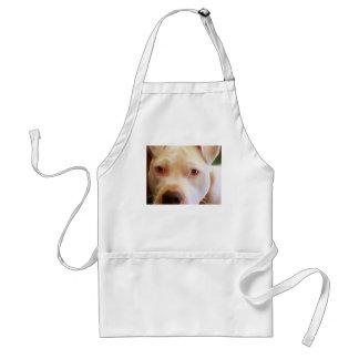 Pitbull Puppy Dog Eyes Art Photography Adult Apron