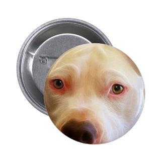 Pitbull Puppy Dog Eyes Art Photography Pinback Button