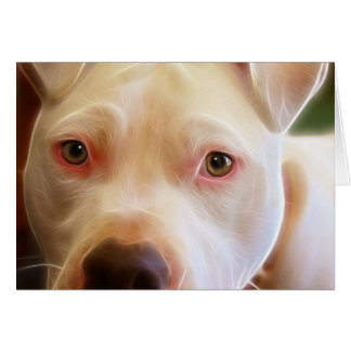 Pitbull Puppy Dog Eyes Art Photography Card