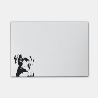 Pitbull puppy face post-it® notes