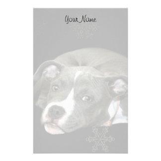 Pitbull puppy stationary stationery