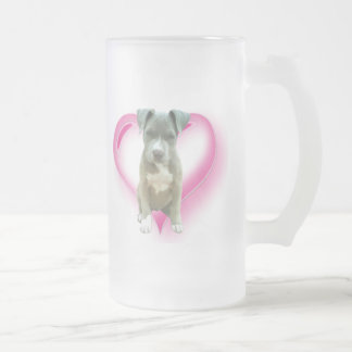 Pitbull puppy tall mug