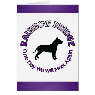 PITBULL RAINBOW BRIDGE SYMPATHY CARD