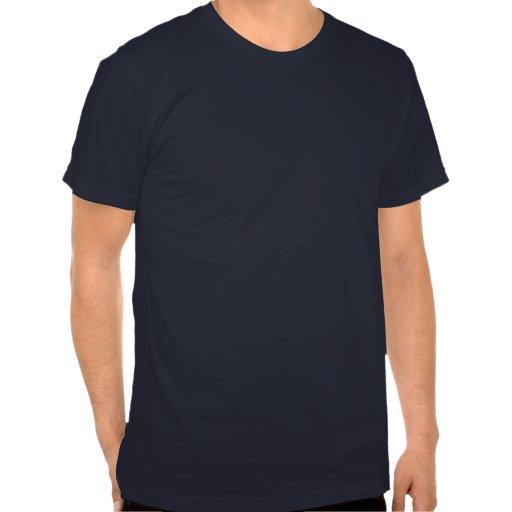 Pitbull rojo de la nariz con un fondo azul camisetas