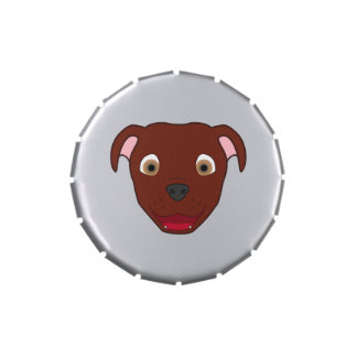 Pitbull rojo latas de caramelos