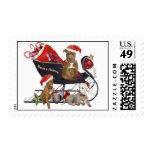 Pitbull Santa's Helpers Postage